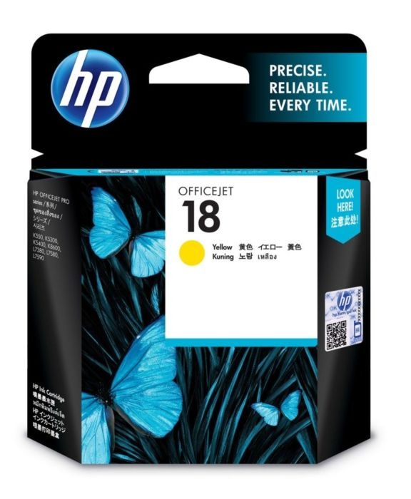 HP 18 Yellow Ink Cratridge