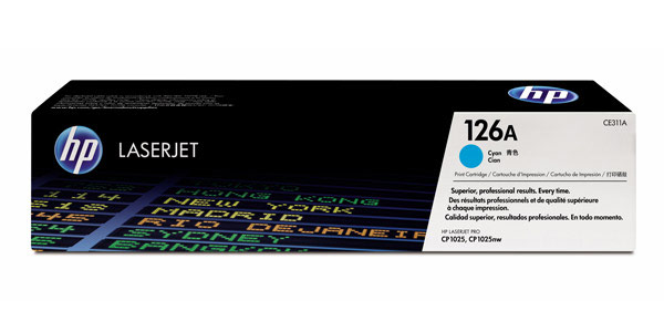 HP 6001A (126A) Cyan Toner Cartridge