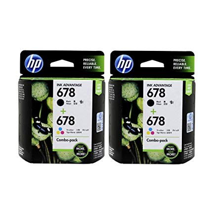 HP 678 Black Ink Cartridge (2 in a pack)