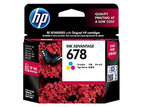 HP 678 Tri color Ink Cartridge (2 in a pack)