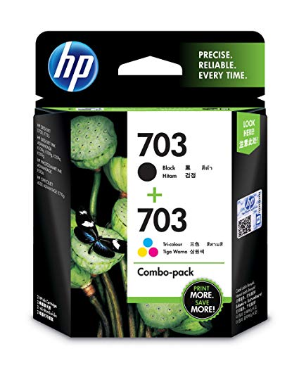 HP 703 Tricolor/Black Combo Ink Cartridge