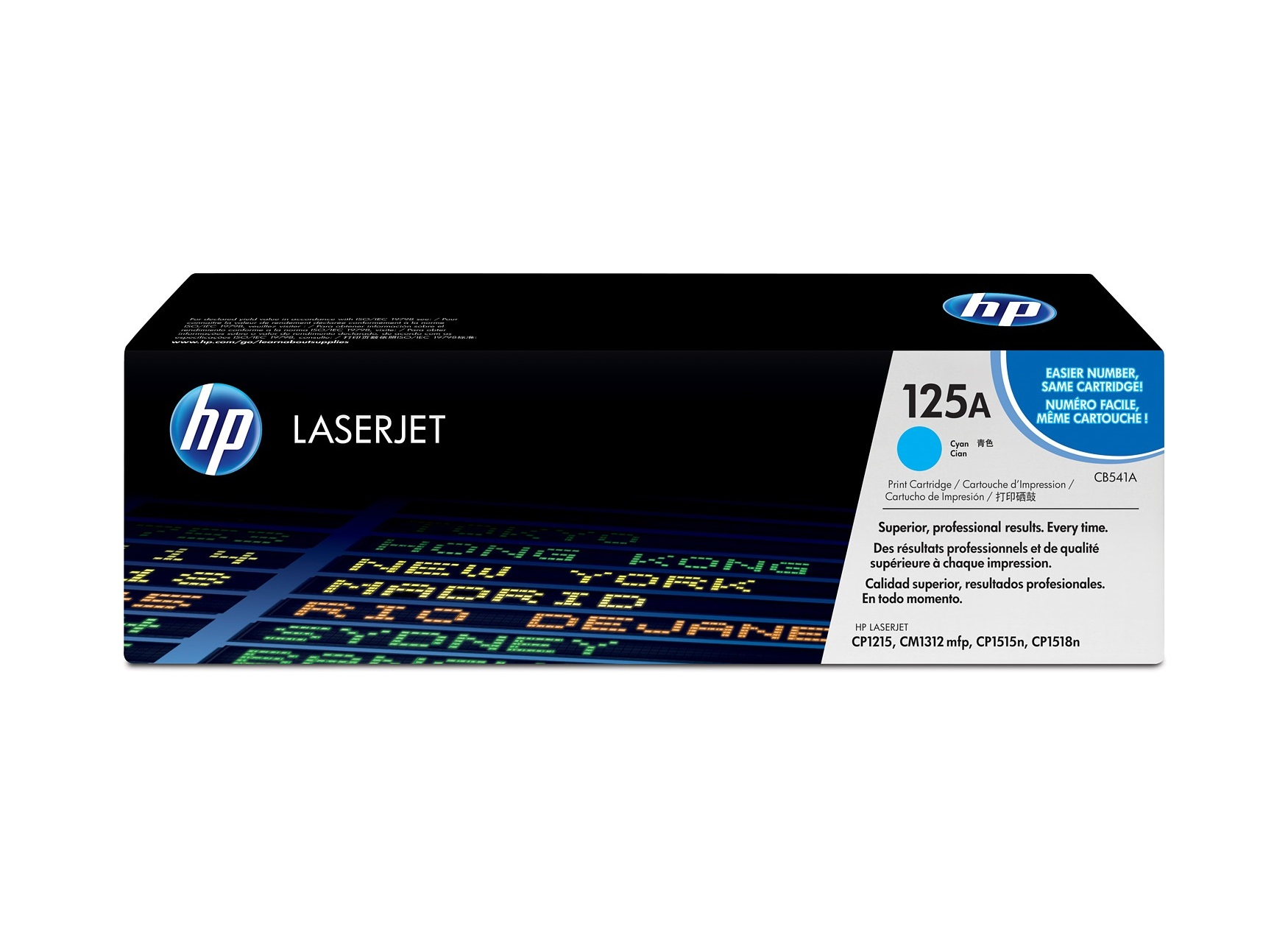 HP CB541A (125A) LaserJet Cyan Toner Cartridge