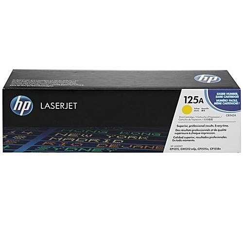 HP CB542A (125A) LaserJet Yellow Toner Cartridge